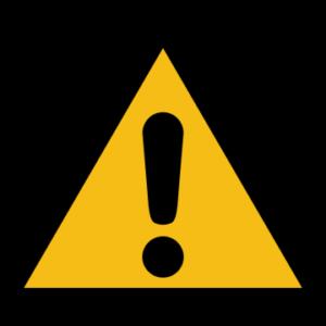 Sicherheitsaufkleber Allgemeines Warnzeichen