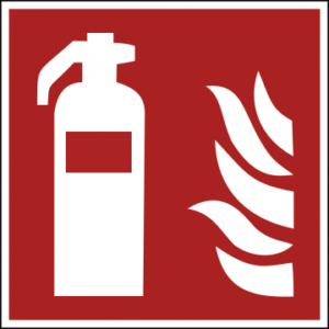 Sicherheitsaufkleber Feuerlöscher