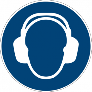 Sicherheitsaufkleber Gehörschutz benutzen