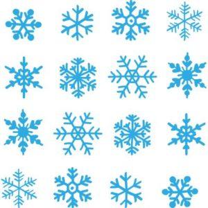 Dekofolie Schneeflockenset