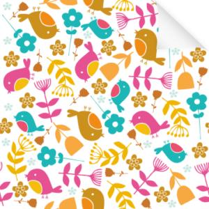 Dekofolie Blumen & Vögel Frühling