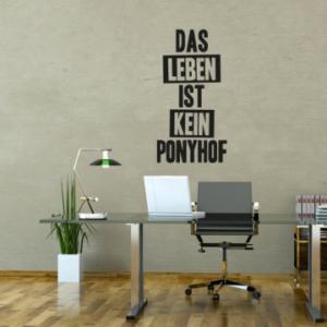 Sprüche 'Das Leben ist kein Ponyhof'