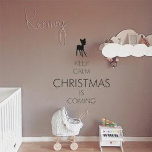 Keep calm christmas is coming (Weihnachten)