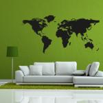 Weltkarte - Wandtattoo