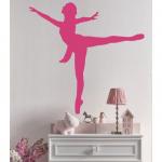 Ballett Tänzerin aus Klebefolie als Wandtattoo