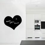 Herz Motiv als selbstklebende Tafelfolie
