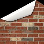Ziegelmauer Industrial Wandtattoo