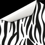 Zebra Tier Wandtattoo
