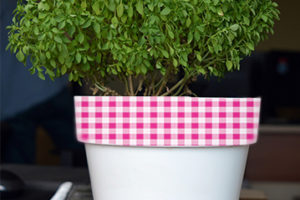 DIY Blumentopf Folie