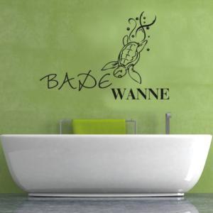 Wandtattoos Badewanne