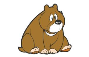 Koffer Sticker Bär