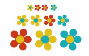 Koffer Sticker Blumen