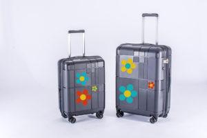 Koffer set mit blumen