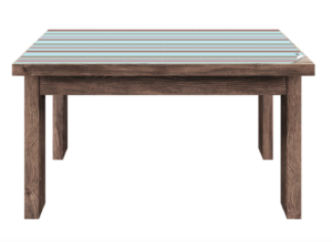 Tisch ohne Klebefolie