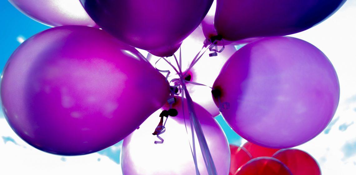 Luftballons für eine Party