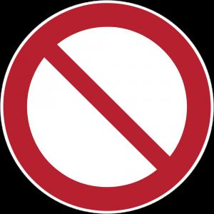 Aufkleber-Allgemeines Verbotszeichen