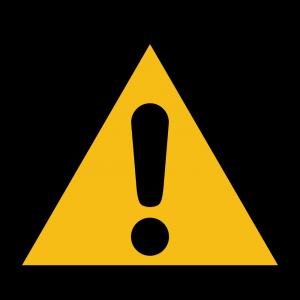 Aufkleber-Allgemeines Warnzeichen