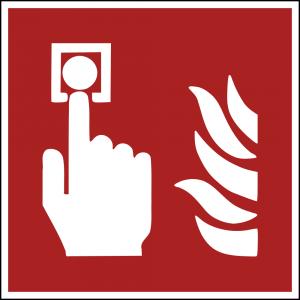 Aufkleber-Brandmelder