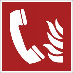 Aufkleber-Brandmeldetelefon