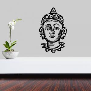 Buddhakopf - Wandtattoo