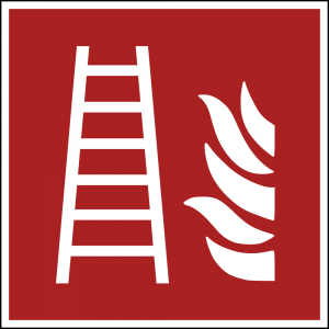 Aufkleber-Feuerleiter