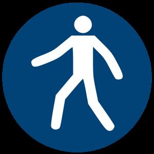 Aufkleber-Fußgängerweg benutzen