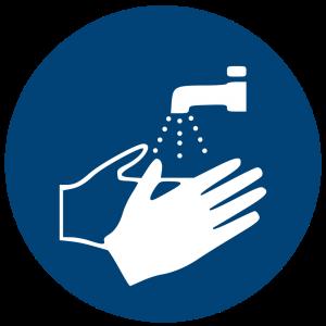 Aufkleber-Hände waschen