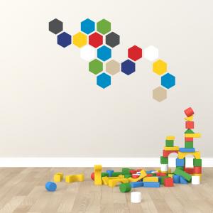 Folien in Form Hexagon Bunte Mischung