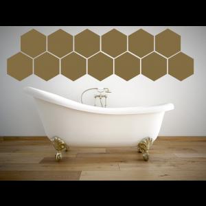 Folien in Form Hexagon Mischung einfarbig Matt