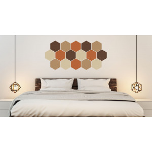Folien in Form Hexagon Mischung Braun