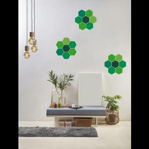 Folien in Form Hexagon Mischung Grün