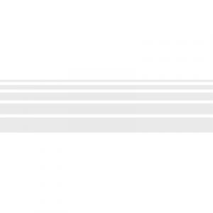 Klebefolie Milchglasfolie Türmarkierung Streifen Silber Nr. 1 (matt)