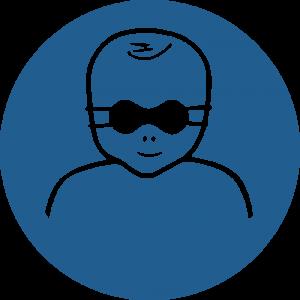 Aufkleber-Kleinkinder durch weitgehend lichtundurchlässige Augenabschirmung schützen