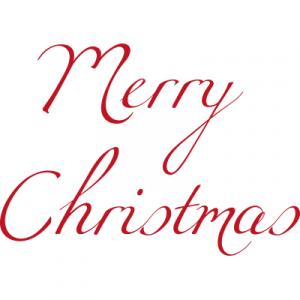 Weihnachtsaufkleber Merry Christmas 6