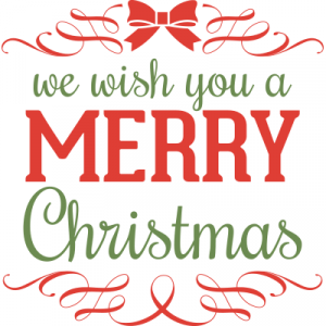Weihnachtsaufkleber Merry Christmas 8