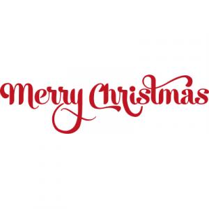 Weihnachtsaufkleber Merry Christmas 9
