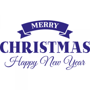 Weihnachtsaufkleber Merry Christmas Happy new Year