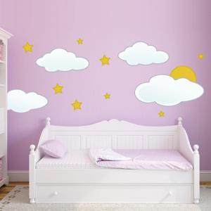 Sterne und Wolken - Wandtattoo