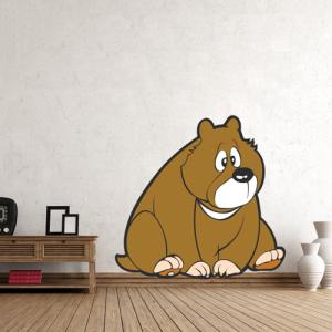 Bär sitzend - Wandtattoo