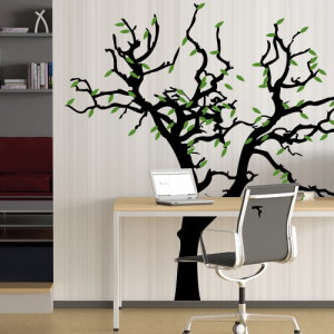 Baum und Blätter - Wandtattoo