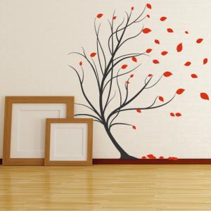 Baum im Wind - Wandtattoo