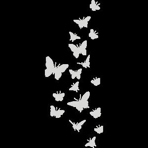 Milchglas - Schmetterlinge