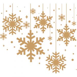 Weihnachtsaufkleber Schneeflockengirlande