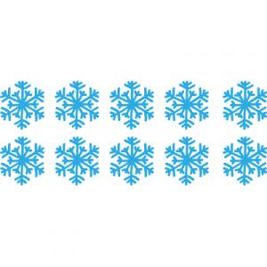 Weihnachtsaufkleber Schneeflocke
