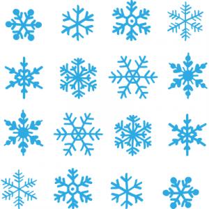 Weihnachtsaufkleber Schneeflockenset