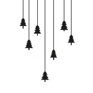 Weihnachtsaufkleber Tannenbaum
