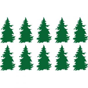 Weihnachtsaufkleber Tannenbaum 2