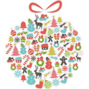 Weihnachtsaufkleber Weihnachtskugel