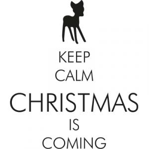 Weihnachtsaufkleber keep calm