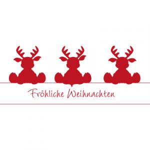 Weihnachtsaufkleber Fröhliche Weihnachten 3